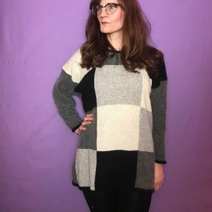 Vintage 'Grandma' Style  Color Block Sweater